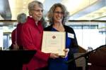 Gail presenting Twersky Award